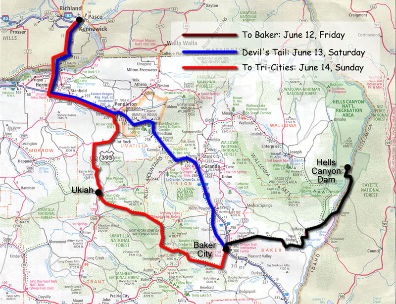 Unity Oregon Map.Hells Canyon Motorcycle Rally